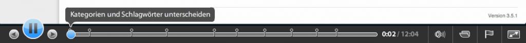 Über die Playerleiste kann man direkt zu den Unterabschnitten navigieren
