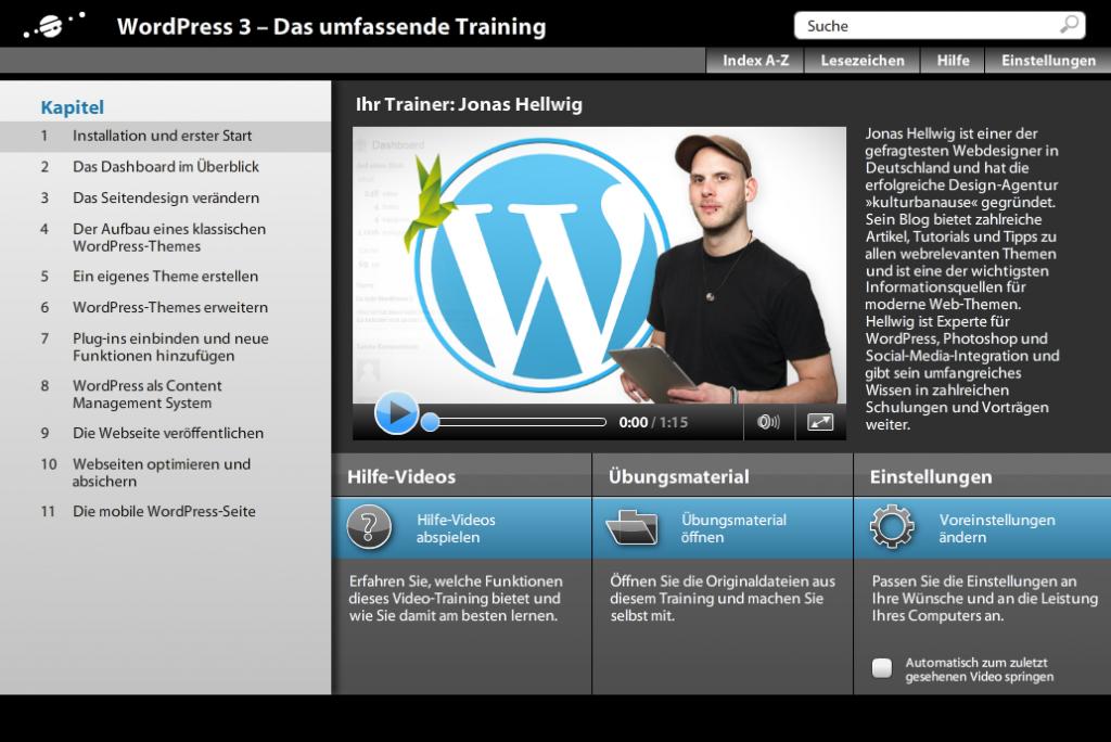 Startseite WordPress 3 - Das umfassende Training