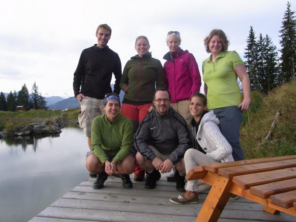 Die sieben tapferen Wanderer der Castlecamp Outdoorsession.