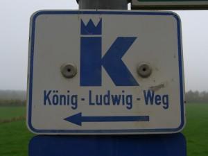 Die Wegmarkierung König-Ludwig-Weg