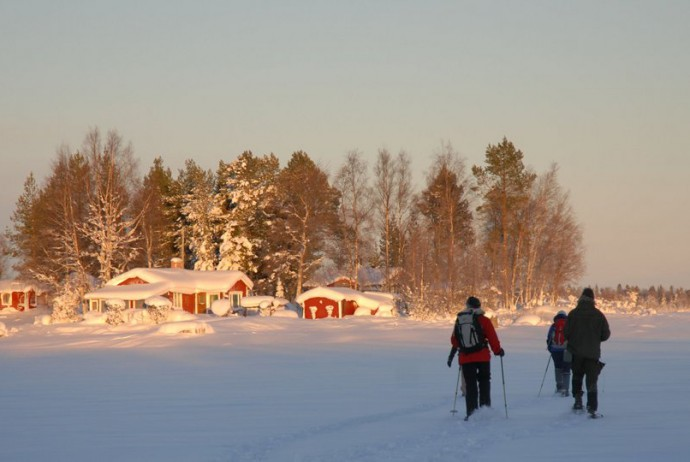 Winterwanderung zur Insel Storgrundet