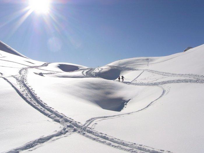 Strahlend blauer Himmel und weißer Schnee, was braucht man mehr?