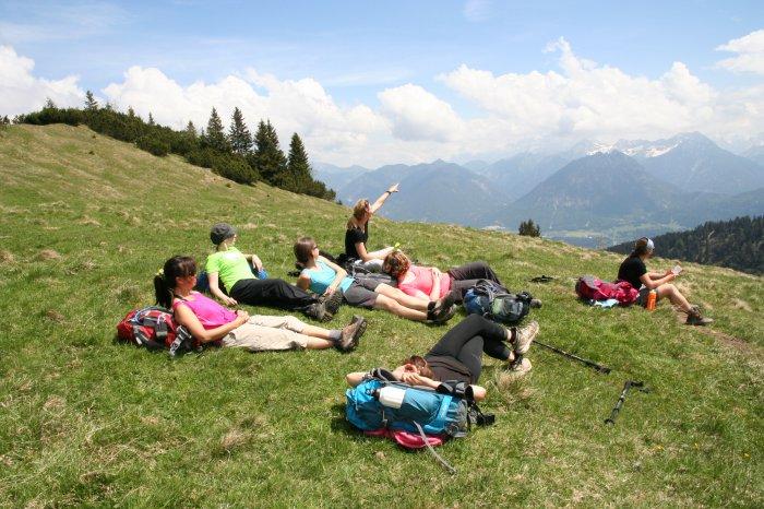 Pause auf der Hahlealpe (Foto: Corinna Bendereit, Outdoormädchen
