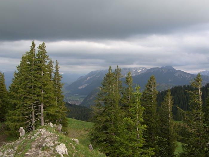 Auf dem Alpspitz Gipfel
