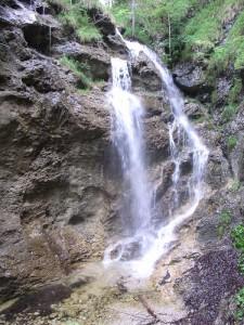 Der Kleine Wasserfall bei Wallgau
