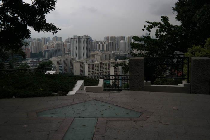 Aussicht auf die Innenstadt von Singapur