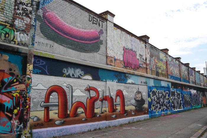 Die Wand an der Tumblinger Straße