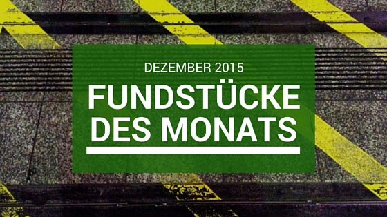 Fundstücke des Monats: November 2015