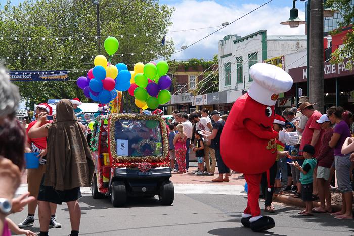 Weihnachten in Neuseeland: Christmas Parade in Rotorua