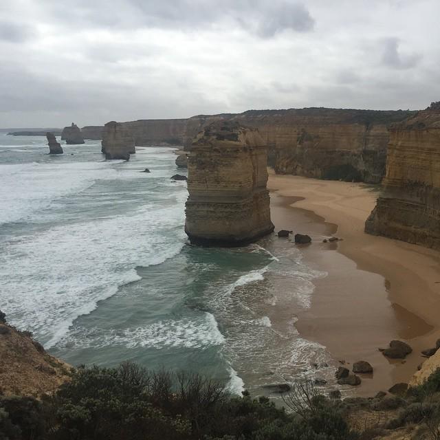 Die berühmten 12 Apostels, eines von vielen Highlights auf der Great Ocean Road