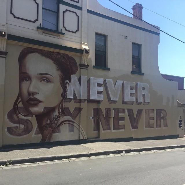 Street Art im Viertel Fitzroy