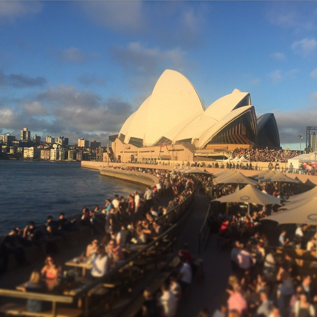 Viel los vor dem berühmten Sydney Opera House