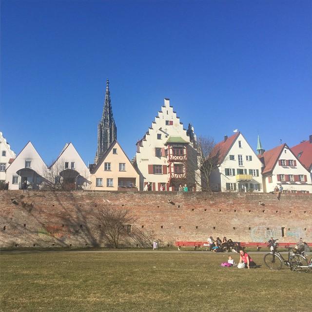 Ein sonniger Frühlingstag in Ulm