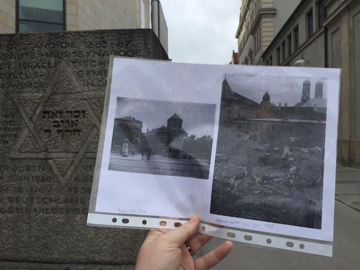 #Spurensuche: Foto der Alten Hauptsynagoge vor dem Denkmal