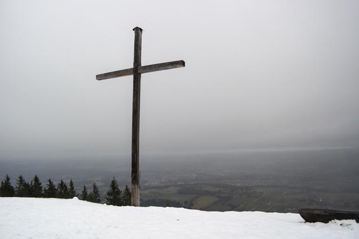 Blomberg-Gipfel mit Ausblick auf das Isartal