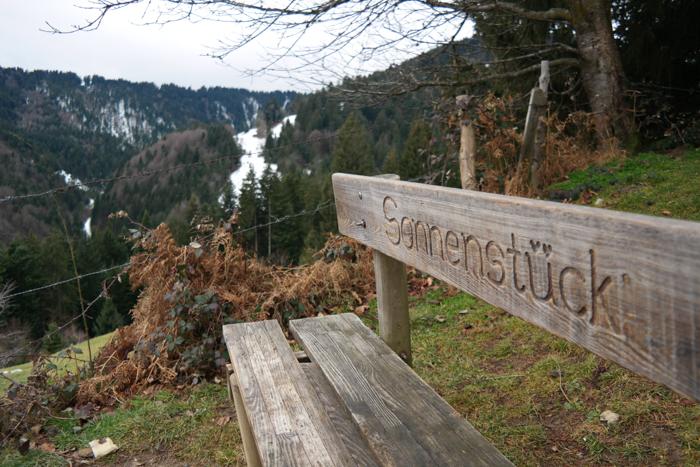 Holzbank Sonnenstück