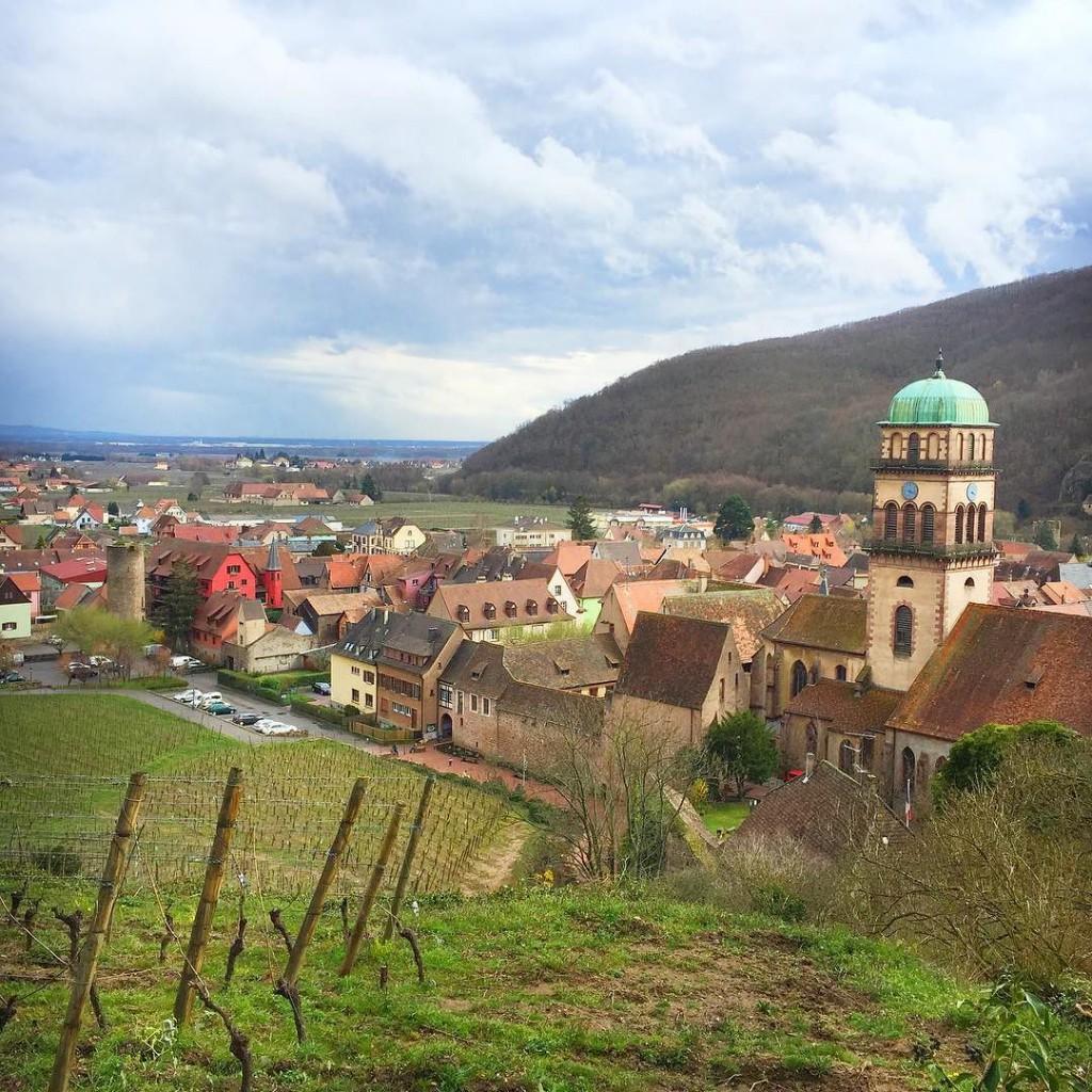 Blick auf Kaysersberg von der Burgruine