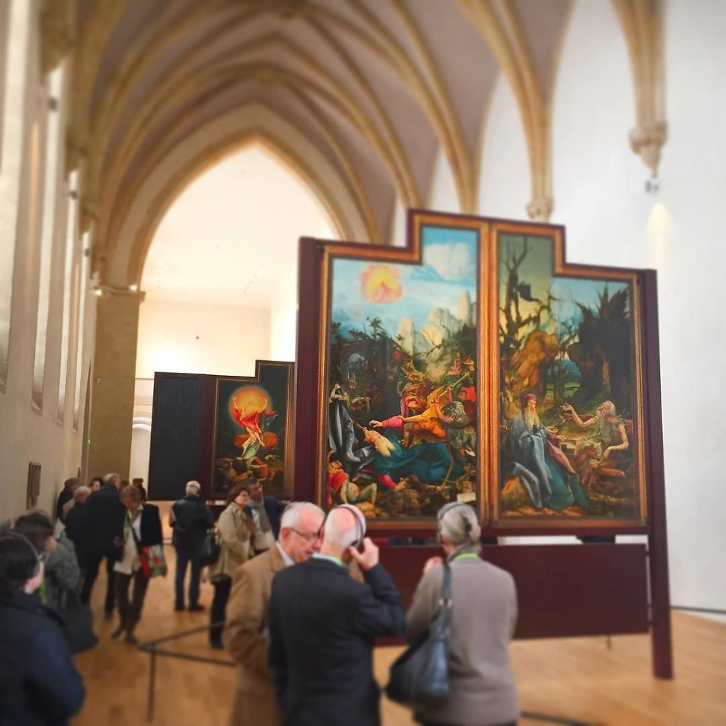 Isenheimer Altar im Museum Unterlinen in Colmar, Elsass