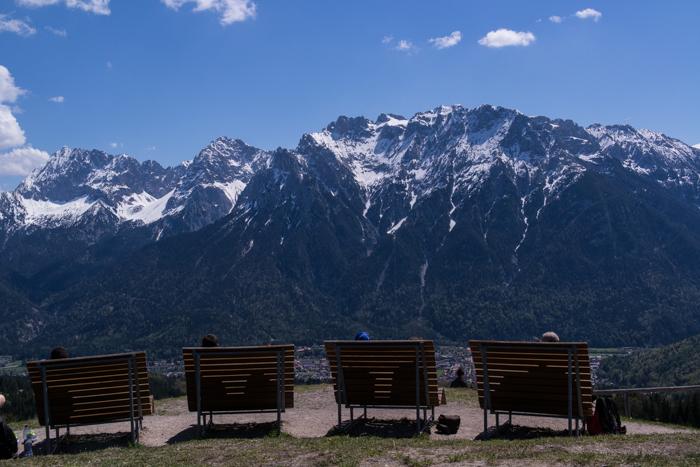 Hoher Kranzberg mit Panoramakino auf das Karwendel