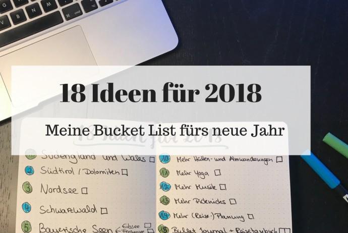 18 Ideen für 2018 Blogheader